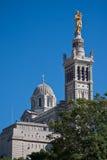 Notr-Dame de la garde. View of Notre-Dame de la Garde in Marseille Stock Photography