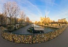 Notre κυρία de Παρίσι, Γαλλία. Στοκ Φωτογραφίες