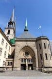 Notre水坝大教堂在卢森堡 免版税图库摄影