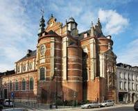 Notre贵妇人辅助财宝Claires教会在布鲁塞尔 比利时 库存照片