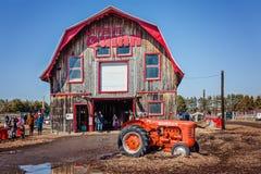 Notre贵妇人del ` Ile-Perrot,更加巨大的蒙特利尔地区,魁北克,加拿大- 2016年3月27日:来在复活节的昆因农场的家庭 库存图片