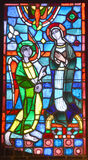 Notre贵妇人du盖帽污迹玻璃窗大教堂  免版税图库摄影