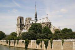 Notre巴黎达默  库存照片