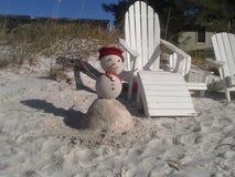 Notre bonhomme de neige photographie stock libre de droits