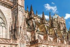 Notre célèbre Dame de Strasbourg, image libre de droits