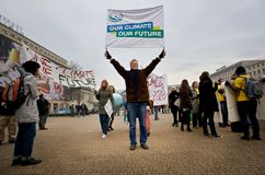 Notre climat notre contrat à terme Image libre de droits
