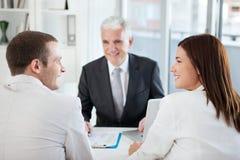Notre conseiller financier Images stock