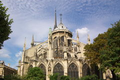 Notre Dam cathedral of Paris Stock Image