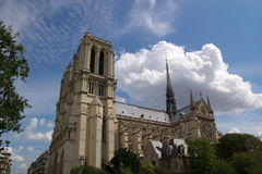 Notre Dam cathedral of Paris Stock Photo