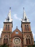 Notre Dam cathedral in Saigon Stock Images