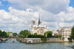 Notre Dam and the Seine river Stock Photography