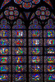 Notre Dam window Stock Photography