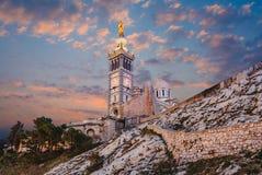 Notre Damae de los angeles Garde, Marseille, Francja fotografia stock