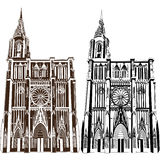 Notre Damae De Strasburg Zdjęcie Stock