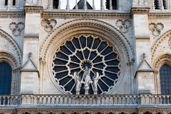 Notre Damae katedra, Paryż, Francja. Paryska atrakcja turystyczna Obrazy Royalty Free