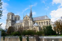 Notre Damae katedra, Paryski Francja Zdjęcie Stock