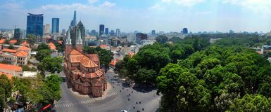 Notre Damae katedra Saigon Obraz Royalty Free