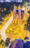 Notre Damae katedra w nocy Obraz Stock