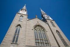 Notre Damae Katedralny kościół w Ottawa Kanada Fotografia Stock