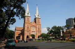 Notre Damae katedry kwadrat Obrazy Stock