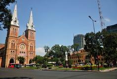 Notre Damae katedry kwadrat Zdjęcie Royalty Free