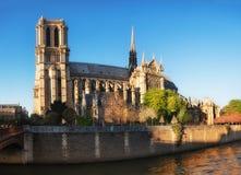 Notre Damae Paryski boczny widok w wiośnie obrazy stock