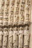 Notre Damae, Paryski katedralny portal Obrazy Stock