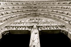 Notre Dame入口 免版税库存图片