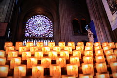 Notre Dame内部 免版税库存照片
