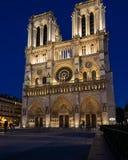 Notre Dame在火前的几天 免版税库存图片