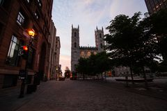Notre Dame在蒙特利尔 库存图片