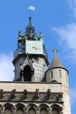 Notre Dame塔,第茂,法国教会  免版税库存图片