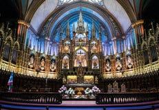 Notre Dame大教堂内部  免版税库存图片