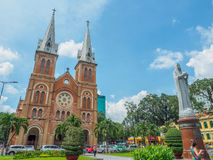 Notre Dame大教堂在胡志明市 库存照片