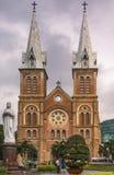 Notre Dame大教堂在西贡 库存图片