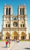 Notre Dame大教堂在巴黎 免版税库存图片