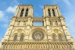 Notre Dame大教堂在巴黎 库存照片