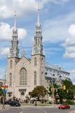 Notre Dame大教堂大教堂在渥太华 免版税库存图片