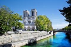 Notre Dame大教堂,巴黎,法国。 库存图片