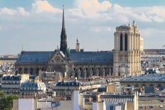 Notre Dame大教堂,巴黎,法国 免版税图库摄影