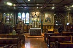 Notre Dame大教堂,蒙特利尔,魁北克,加拿大 图库摄影