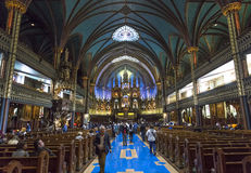 Notre Dame大教堂,蒙特利尔,魁北克,加拿大 库存照片