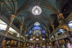 Notre Dame大教堂,蒙特利尔,魁北克,加拿大 库存图片