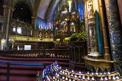 Notre Dame大教堂,蒙特利尔,魁北克,加拿大 免版税库存图片
