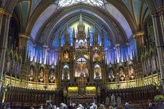 Notre Dame大教堂,蒙特利尔,魁北克,加拿大 免版税库存照片