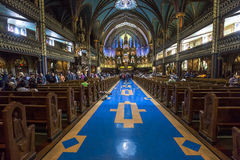 Notre Dame大教堂,蒙特利尔,魁北克,加拿大 免版税图库摄影