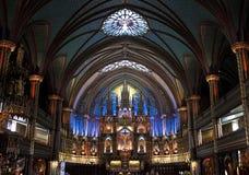 Notre Dame大教堂,蒙特利尔 图库摄影