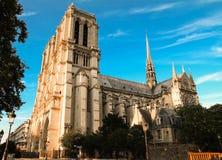 Notre Dame大教堂,巴黎,法国 库存照片