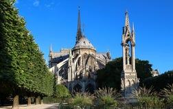 Notre Dame大教堂,巴黎,法国 图库摄影