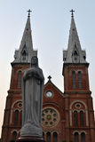 Notre Dame大教堂, Saigon 免版税库存照片
